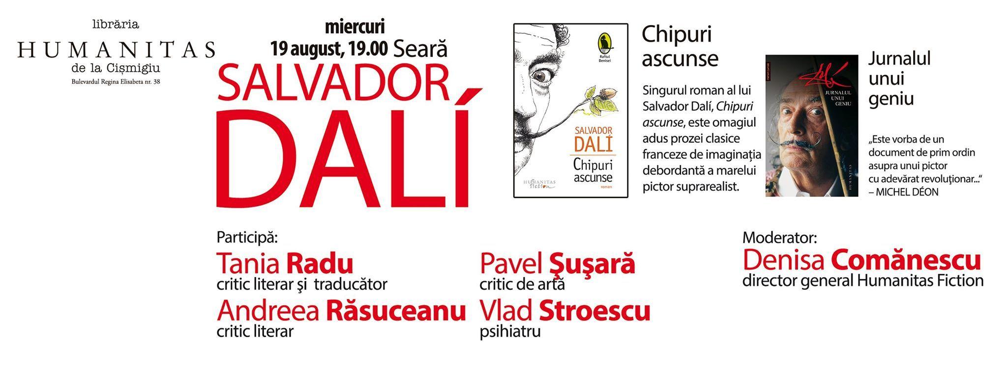 Despre singurul roman al lui Salvador Dalí şi despre celebrul său jurnal