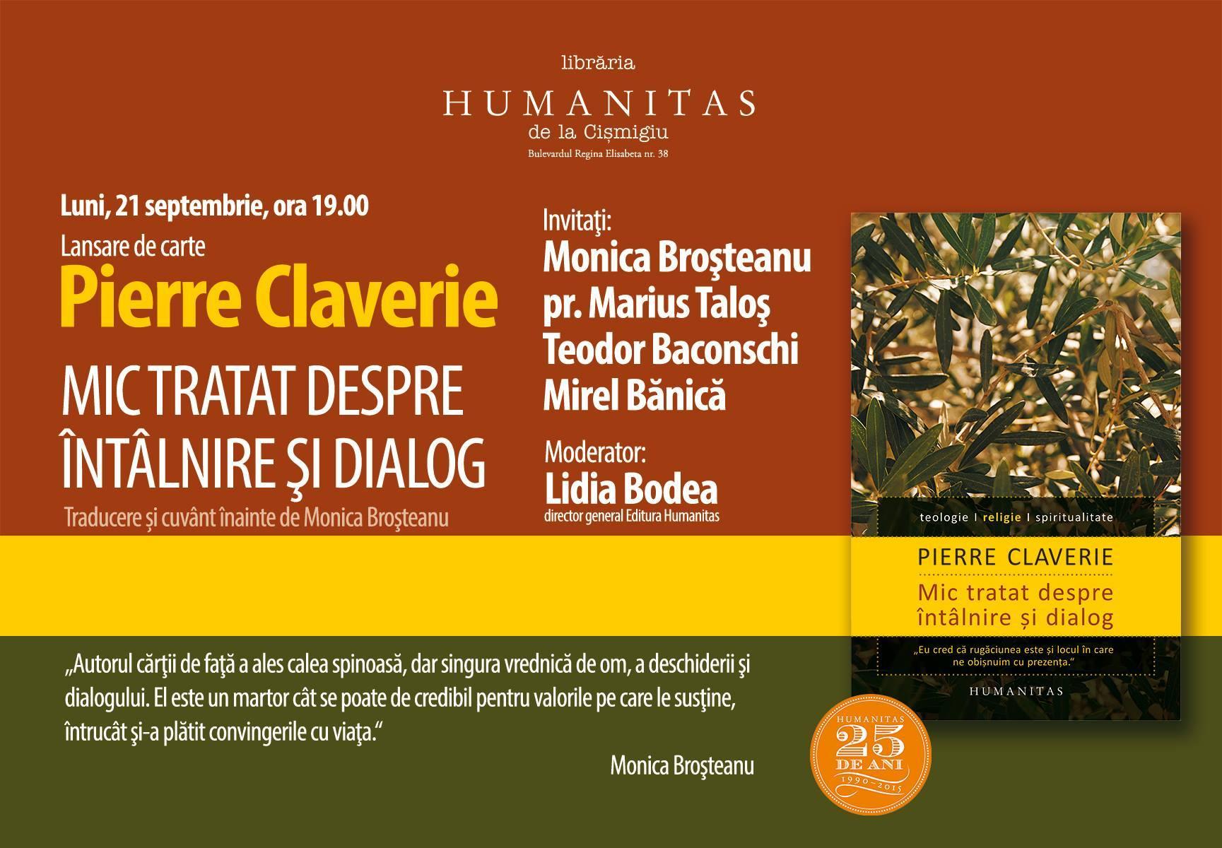 Despre întâlnire şi dialog în tulburătoarea carte a părintelui Pierre Claverie