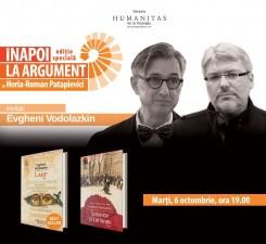 """""""Înapoi la argument"""", ediţie specială: Horia-Roman Patapievici în dialog cu Evgheni Vodolazkin"""