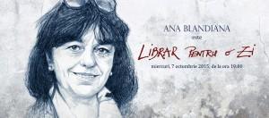 Ana Blandiana este Librar pentru o zi la Librăria Bizantină