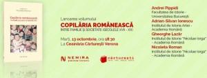 """Lansare """"Copilăria românească"""", de Nicoleta Roman"""