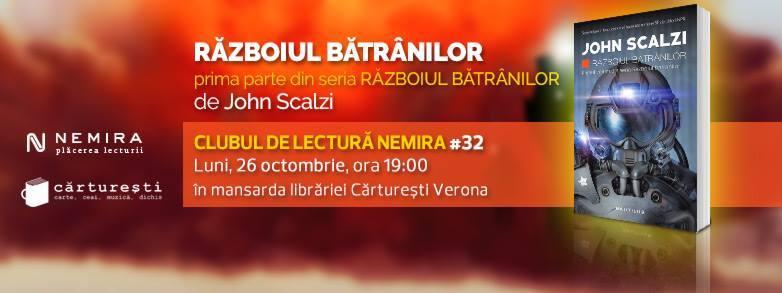 """Clubul de lectură Nemira #32 - """"Războiul bătrânilor"""", de John Scalzi"""