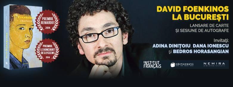 "David Foenkinos în România, lansare de carte ""Charlotte"""