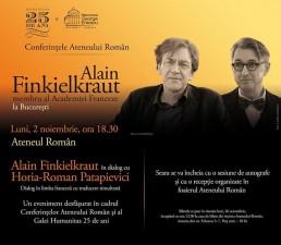 Alain Finkielkraut în dialog cu Horia-Roman Patapievici