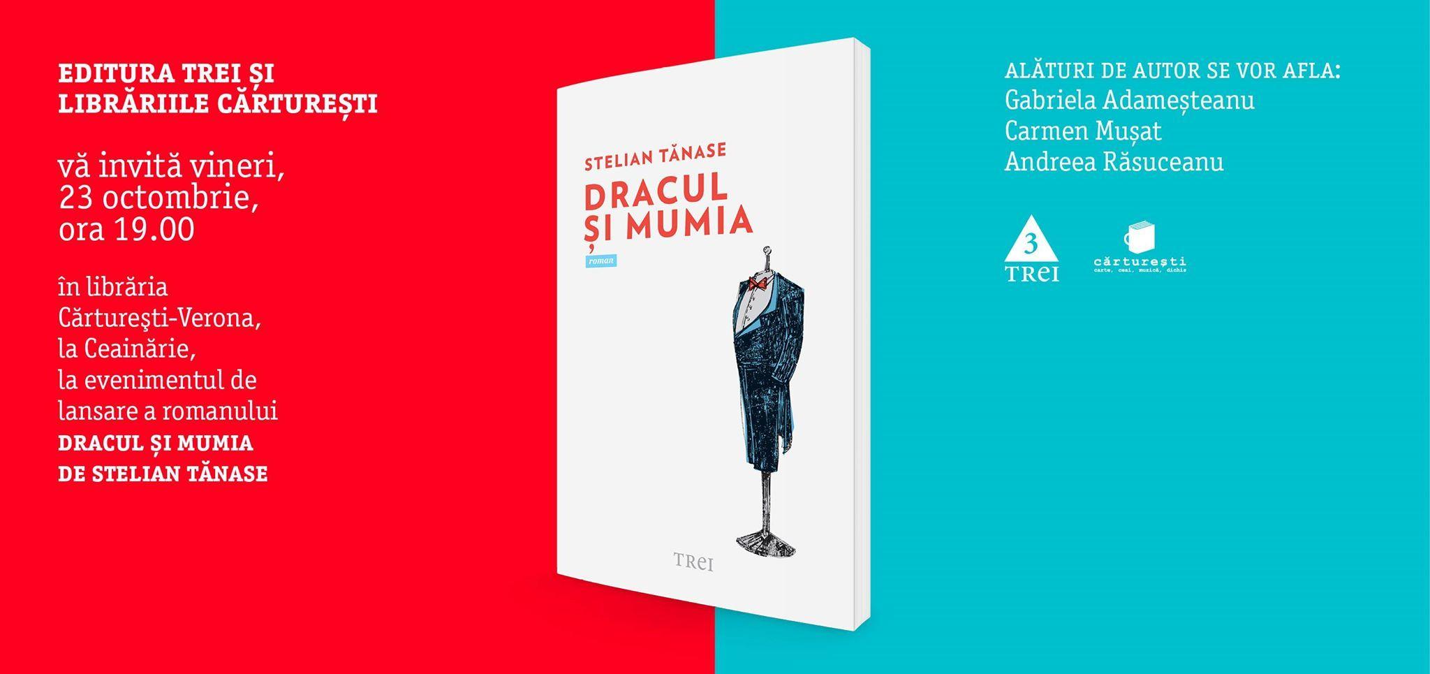 """Lansarea cărții """"Dracul și Mumia"""", de Stelian Tănase"""