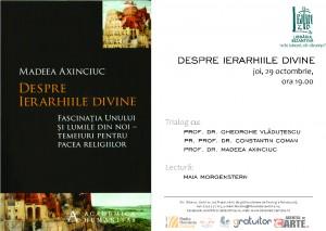 Despre ierarhiile divine la Librăria Bizantină