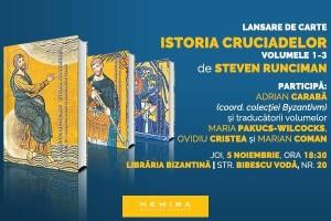 """Lansarea volumelor 1-3 din """"Istoria cruciadelor"""", de Steven Runciman"""
