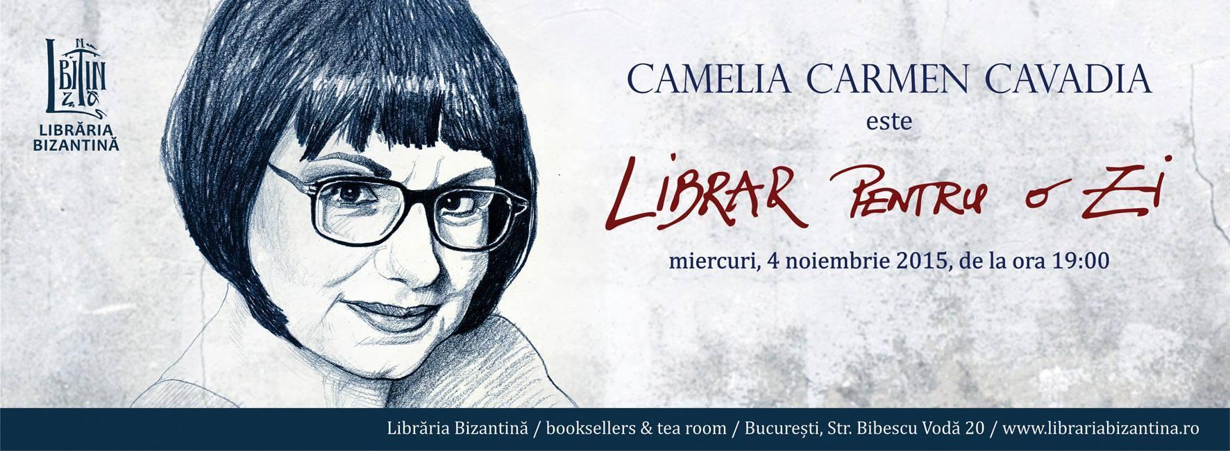Camelia Carmen Cavadia, librar pentru o zi