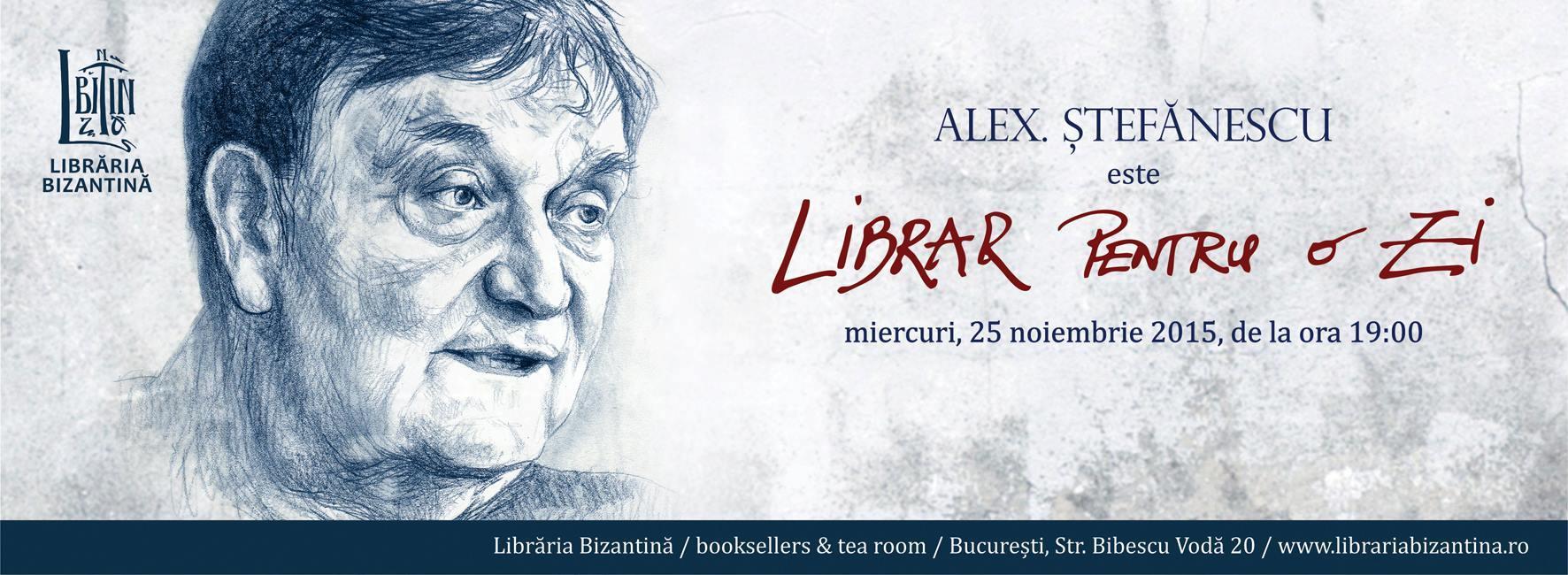 Alex. Ștefănescu este Librar pentru o zi
