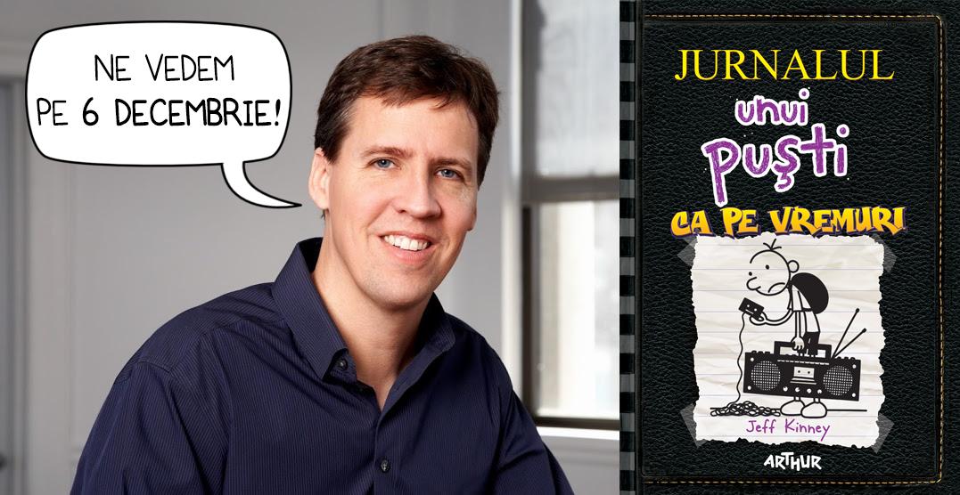 """De Moș Niculae Jeff Kinney lanseaza volumul 10 din seria """"Jurnalul unui puști"""" la Bucuresti"""