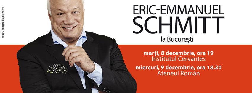 Eric-Emmanuel Schmitt la Bucureşti