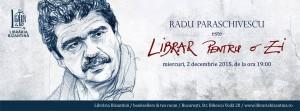 Radu Paraschivescu devine Librar pentru o zi