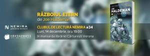"""Clubul de lectură Nemira #34 - """"Războiul etern"""", de Joe Haldeman"""
