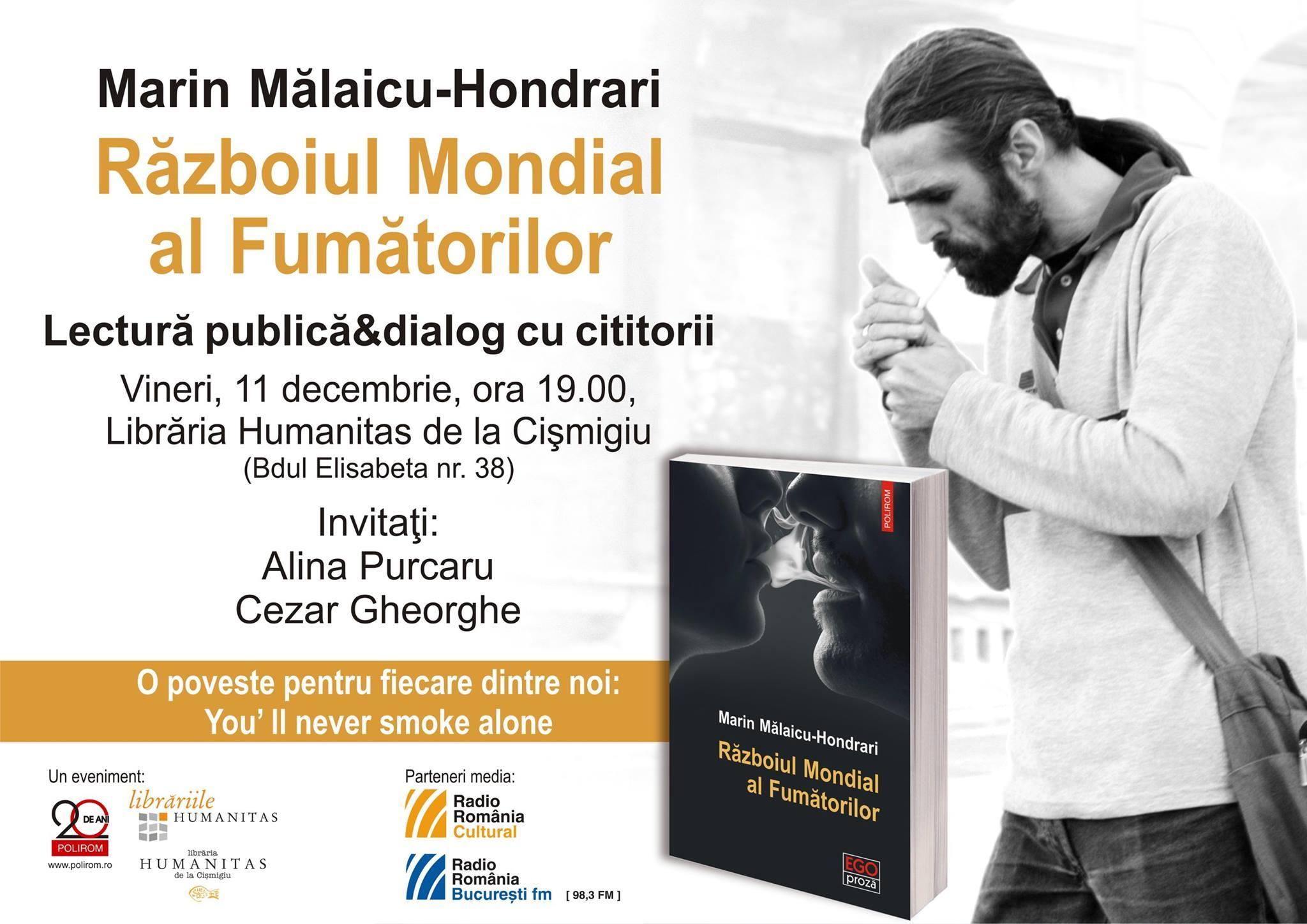 Lectură publică & dialog cu publicul, Marin Mălaicu-Hondrari