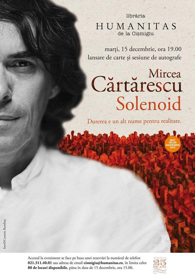 """Mircea Cărtărescu despre """"Solenoid"""""""