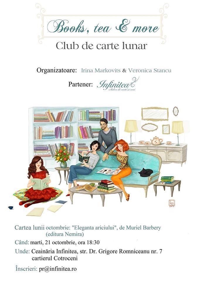 """Books, tea & more – Club de carte lunar. """"Eleganța ariciului"""", Muriel Barbery"""