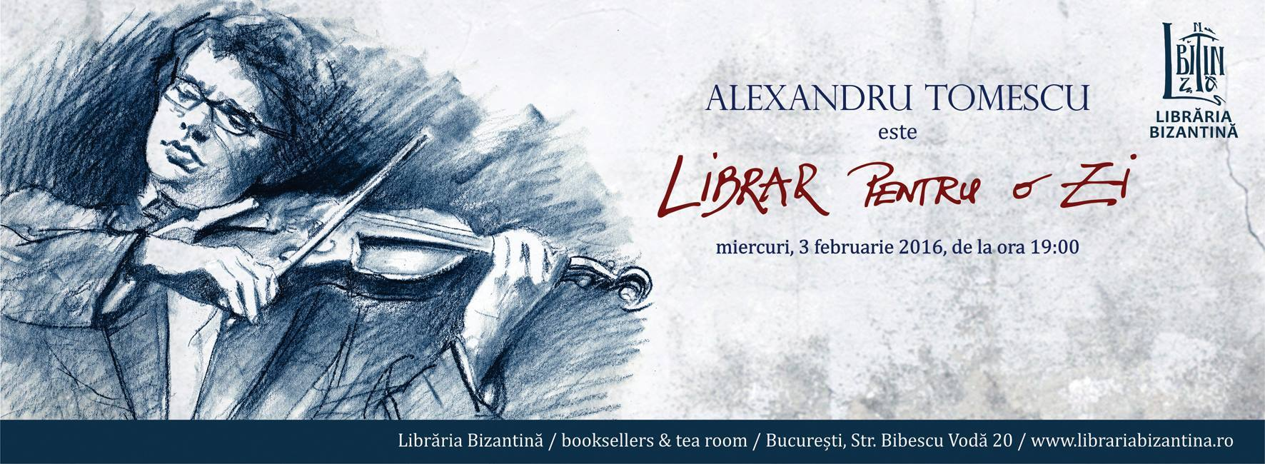 Alexandru Tomescu este Librar pentru o zi