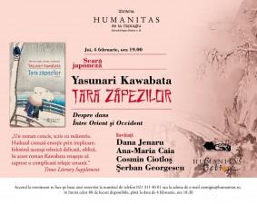 """Seară japoneză: """"Țara zăpezilor"""", de Yasunari Kawabata"""