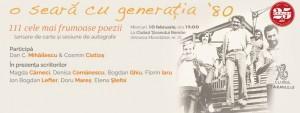 Poezia cucereşte oraşul: o seară cu generaţia 80 la Muzeul Ţăranului Român