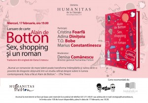 "Lansare Alain de Botton, ""Sex, shopping şi un roman"""