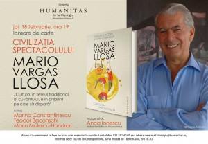 """""""Civilizația spectacolului"""", o nouă carte-eveniment de Mario Vargas Llosa"""
