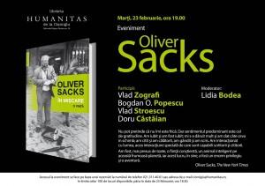 """Lansare Oliver Sacks, """"În mișcare"""""""