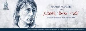 Librar pentru o zi este Marius Manole