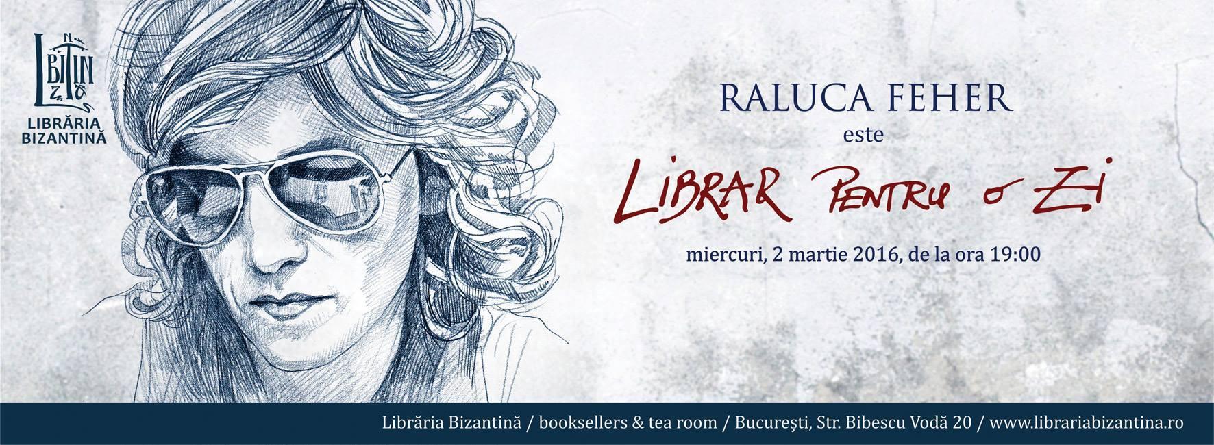 Raluca Feher este Librar pentru o zi
