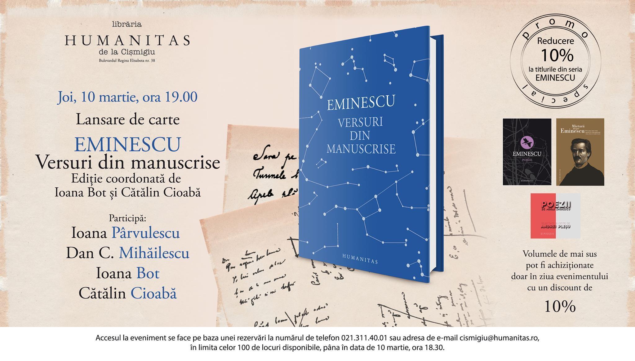 """Despre """"Eminescu – Versuri din manuscrise"""""""
