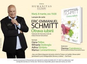 """Lansare """"Otrava iubirii"""", un nou roman de Eric-Emmanuel Schmitt"""