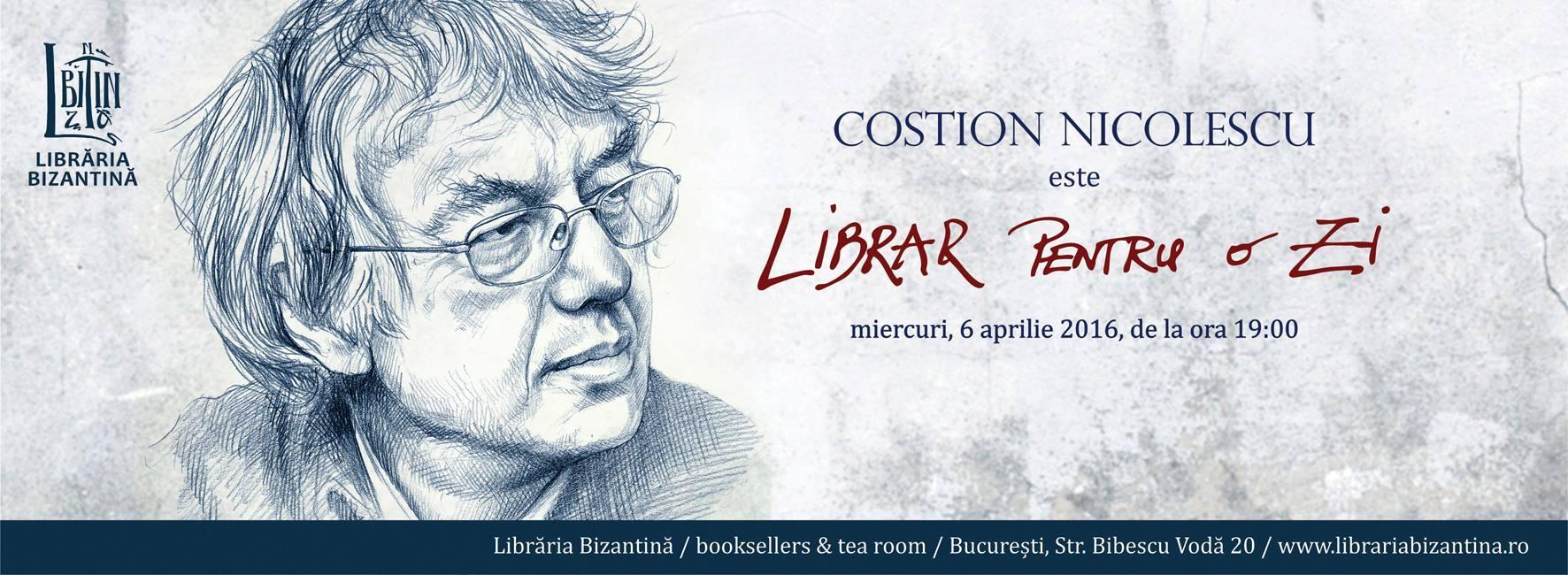 Librar pentru o zi este Costion Nicolescu