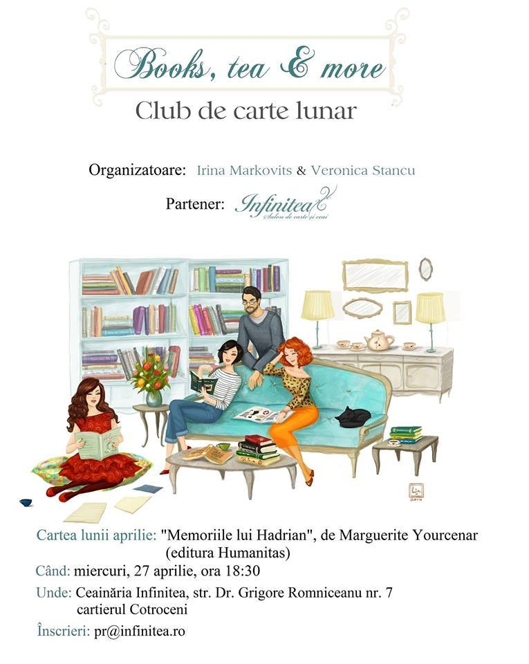 "Books, tea & more ""Memoriile lui Hadrian"""