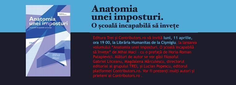 """Lansarea volumului """"Anatomia unei imposturi"""" de Mihai Maci"""