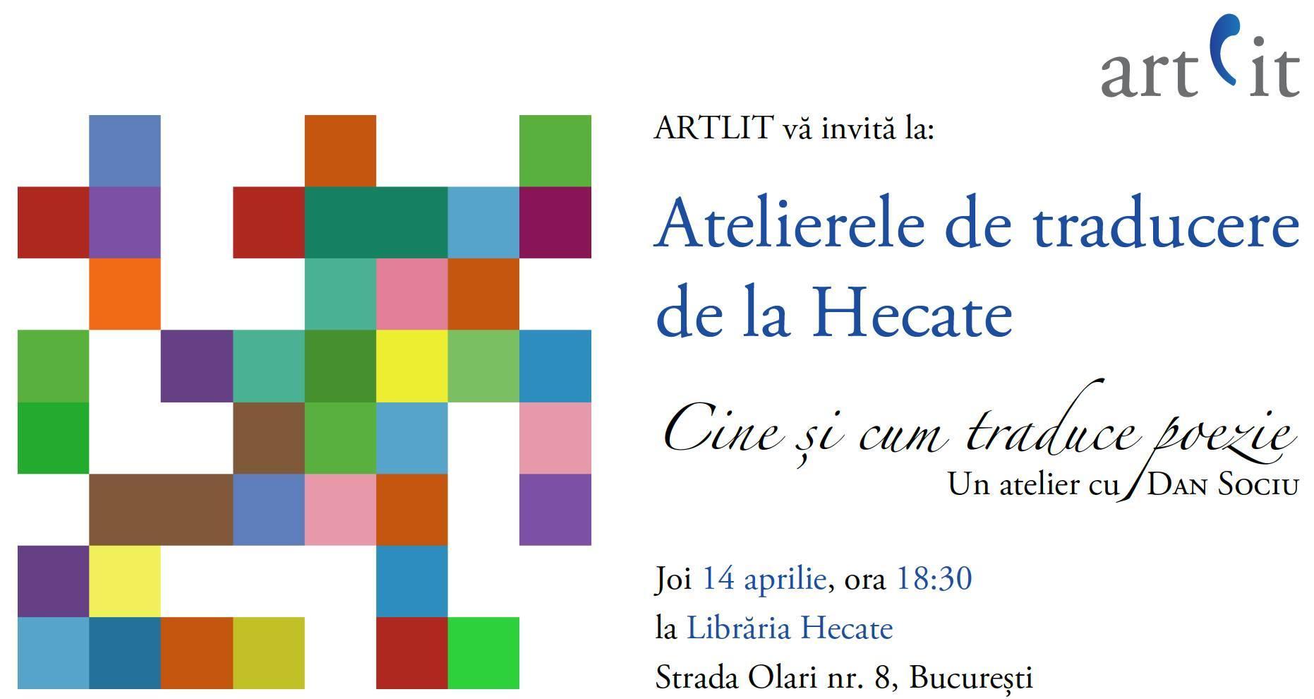 Atelierele tematice ARTLIT - traducerea de poezie