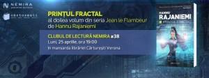 """Clubul de lectură Nemira #38 - """"Prințul fractal"""", de Hannu Rajaniemi"""