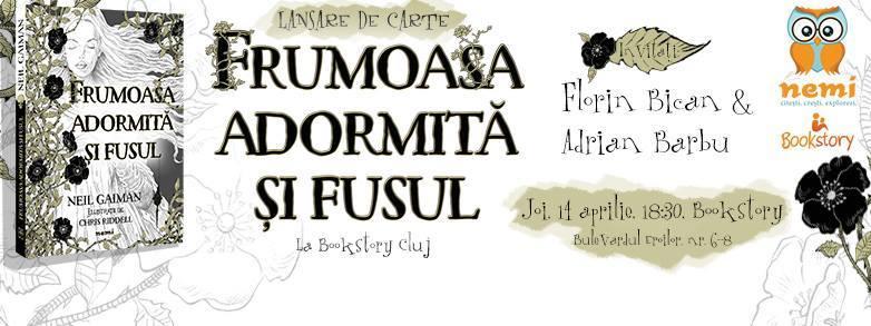 """""""Frumoasa adormită şi fusul"""", de Neil Gaiman, lansare de carte la Cluj"""