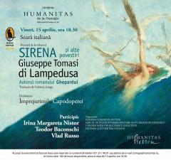 """Seară italiană: """"Sirena şi alte povestiri"""" de Giuseppe Tomasi di Lampedusa"""