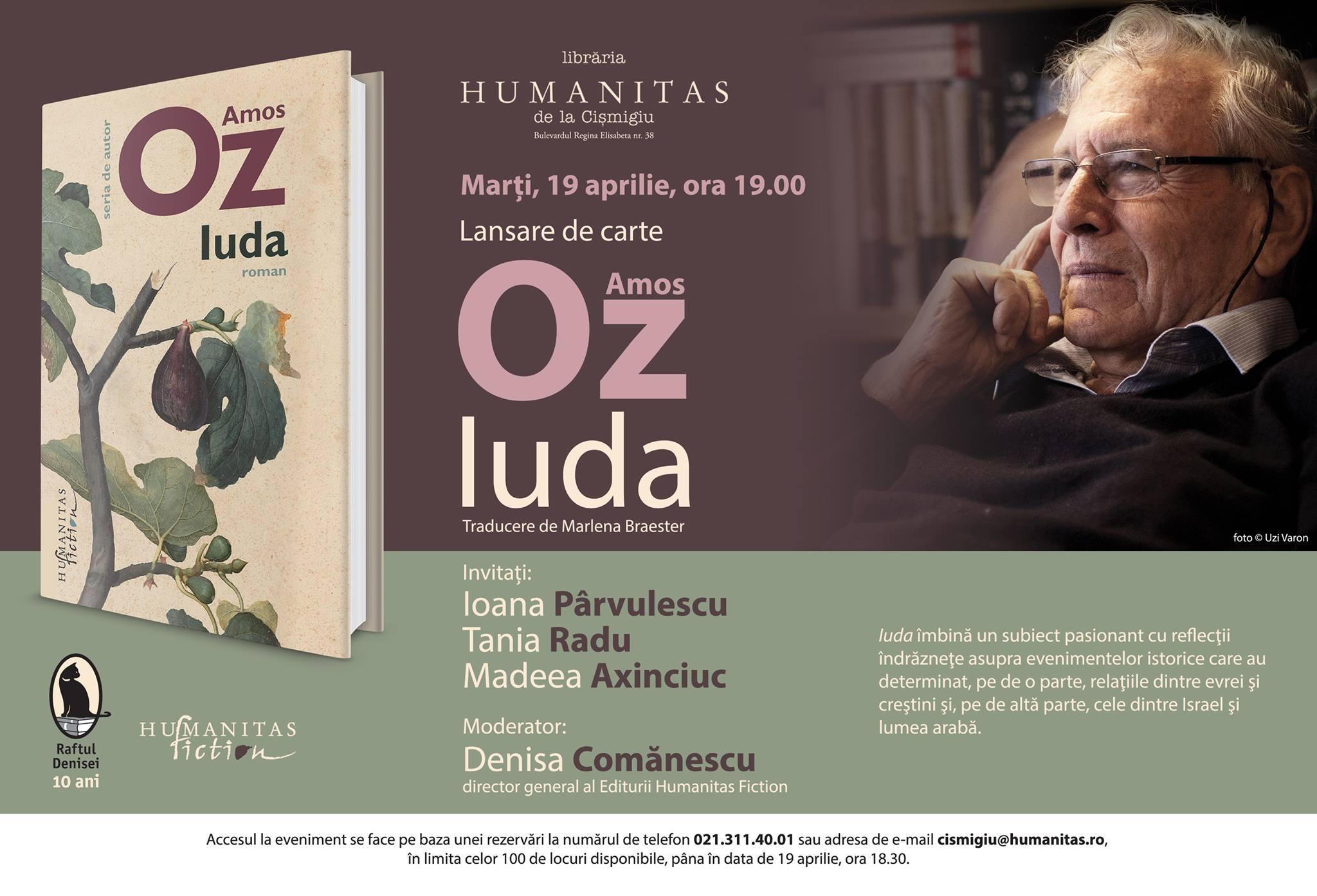 """""""Iuda"""" de Amos Oz, o perspectivă originală despre figura trădatorului şi conceptul de trădare"""