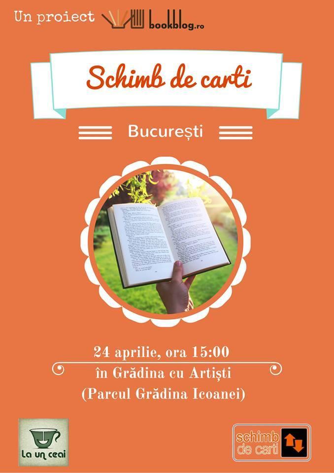 Schimb de Cărți București la Grădina cu Artiști