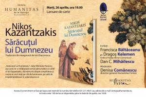 """Lansare """"Sărăcuţul lui Dumnezeu"""", de Nikos Kazantzakis"""