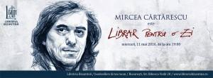 Librar pentru o zi este Mircea Cărtărescu