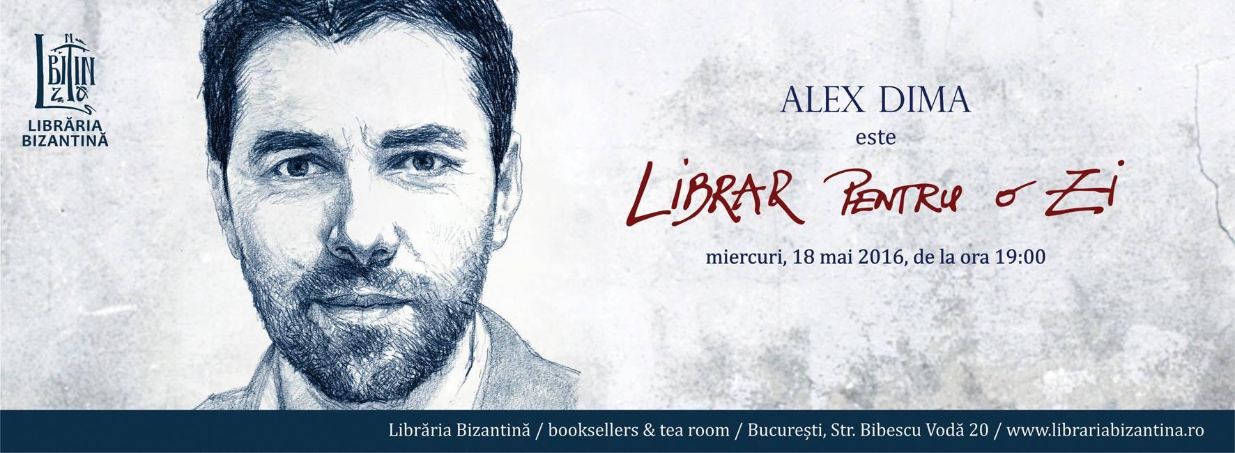 Librar pentru o zi este Alex Dima