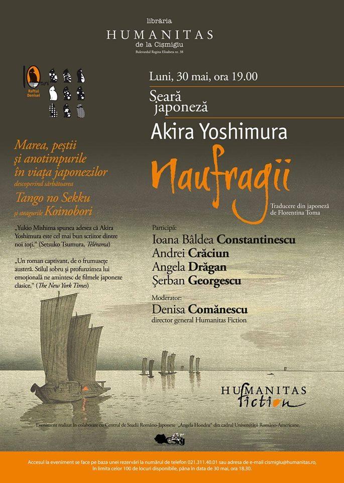 """Seară japoneză: Akira Yoshimura, """"Naufragii"""""""