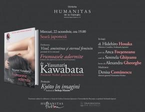"""Seară japoneză Yasunari Kawabata - """"Frumoasele adormite"""""""
