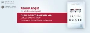 """Clubul de lectură Nemira #40 - """"Regina roşie"""", de Victoria Aveyard"""
