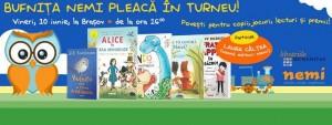 Bufnița Nemi se întâlnește cu micii cititori la Brașov!