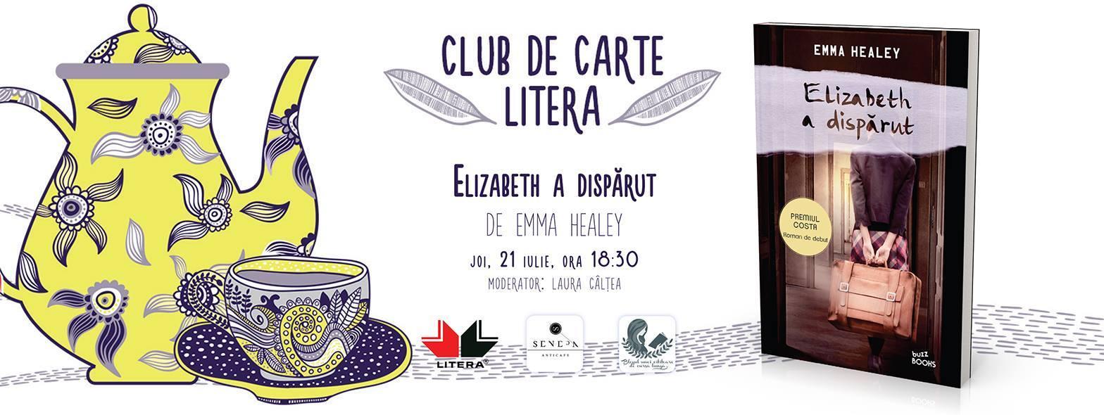 "Club de carte Litera #21: ""Elizabeth a dispărut"", de Emma Healey"