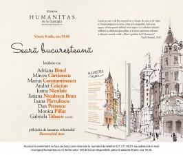 Seară bucureșteană la Librăria Humanitas de la Cișmigiu
