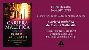 """Clubul de carte Nordic Noir: """"Carieră malefică"""", de Robert Galbraith"""