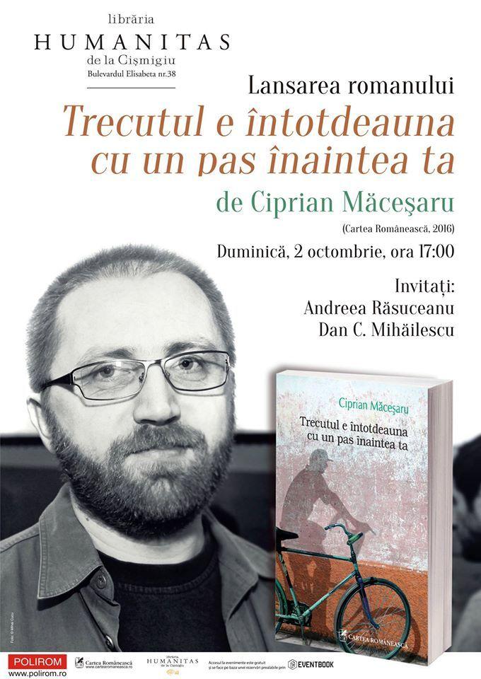 Lansarea noului roman semnat de Ciprian Măceșaru, la București